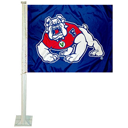 College Flags and Banners Co. Fresno State Bulldogs Car Flag