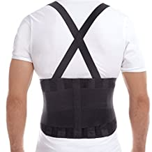 "Premium Lumbar Lower Back Brace and Support Belt - X-Large, Waist/Belly 46"" - 49½"""
