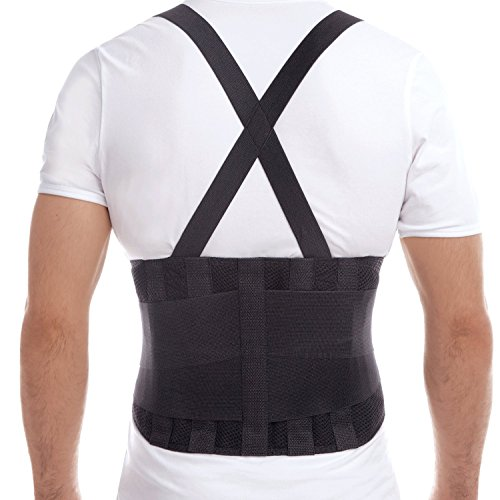 TOROS-GROUP Premium Lumbar Lower Back Brace and Support Belt - Large, Waist/Belly 42