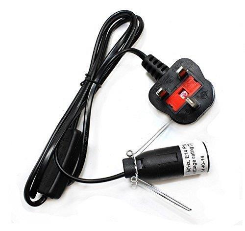 Cable negro con interruptor para lámpara de sal de escritorio ...