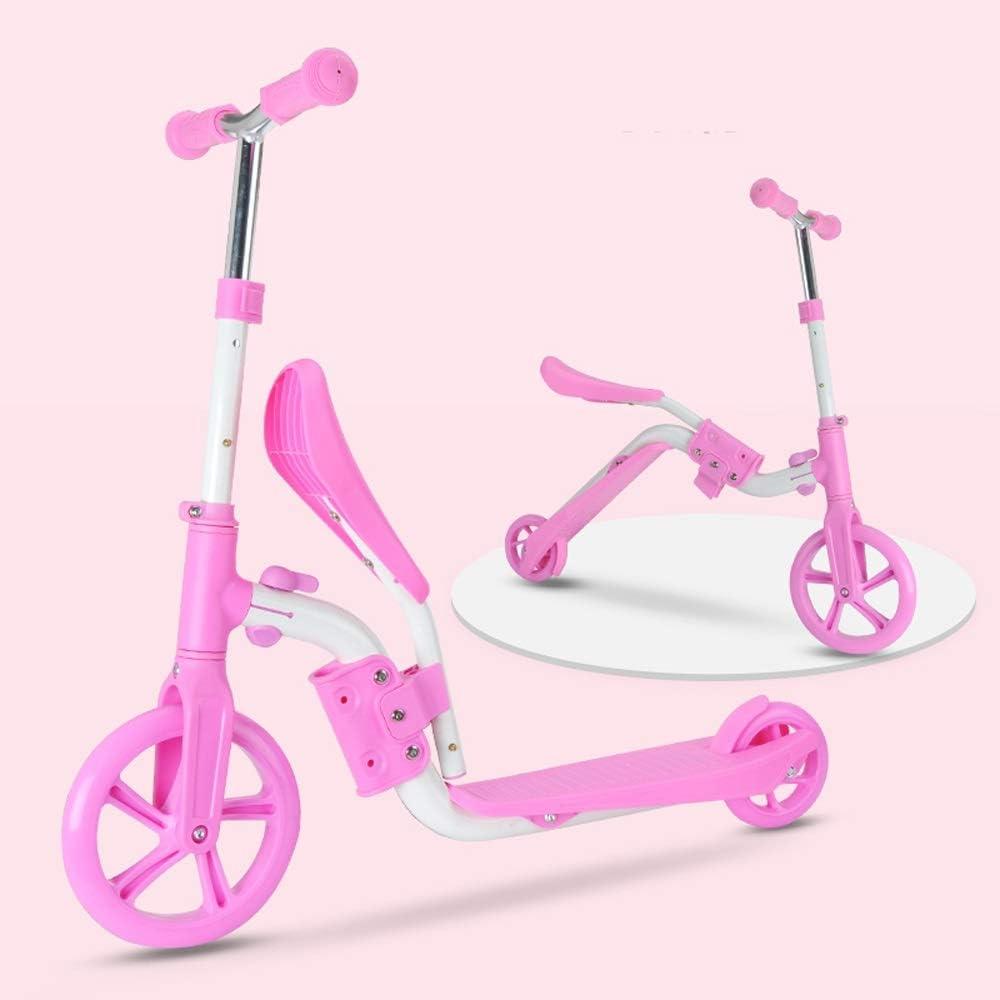 Lihgfw Dos-en-uno Bebé Niño Scooter de Equilibrio sin Pedales Puede Sentarse en un pie Deslizante Yo Coche 2-8 años Niños y niñas