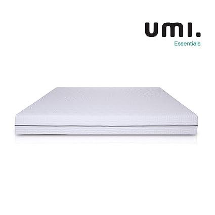 Umi. Essentials Colchón de espuma viscoelástica Reversible con 3 capas y soporte de 7 zonas