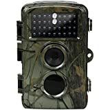 Trail Camera-12MP 720P 0.6s Trigger Speed IP56 Waterproof with Night Vision 65ft Trigger Distance Deer Camera