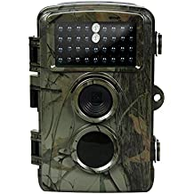 Trail Camera-12MP 720P HD 0.6s Trigger Speed IP56 Waterproof with Night Vision For Deer Hunting 65ft Trigger Distance