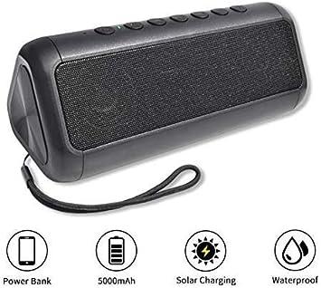 Mirage Altavoces Impermeables Altavoz portátil Bluetooth estéreo inalámbrico Columna Caja de música Solar Power Bank MP3 Altavoz al Aire Libre: Amazon.es: Electrónica