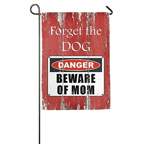 Beware Of Mom Danger Warning Welcome Garden Flag Yard Flag Family Flag With Flag Stand