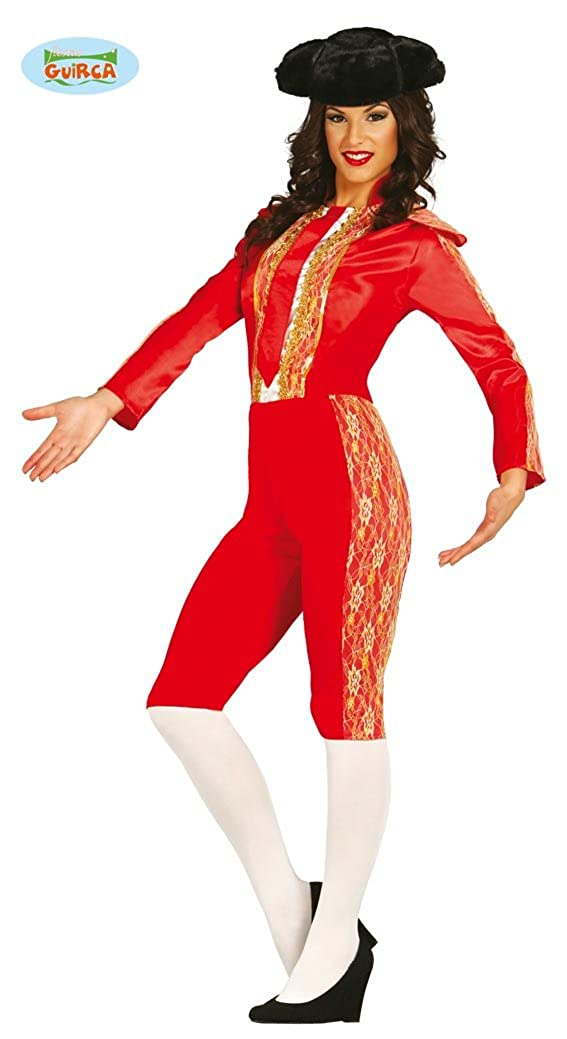 1715ba3bb Ladies Spanish Mexican Bullfighter Matador Red Gold Outfit Fancy Dress  Costume Large  Amazon.co.uk  Clothing