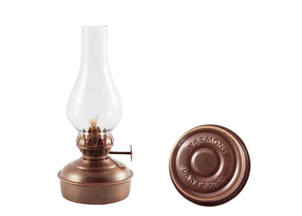 Vermont Lanterns Brass Mini Oil Lamp 6.5'' (Antique Brass)