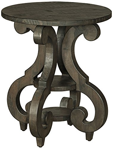 Magnussen T2491-35 Bellamy Round Accent End Table, 26 x 22 x 22