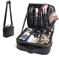 Bvser Travel Makeup Case, PU Leather Por...