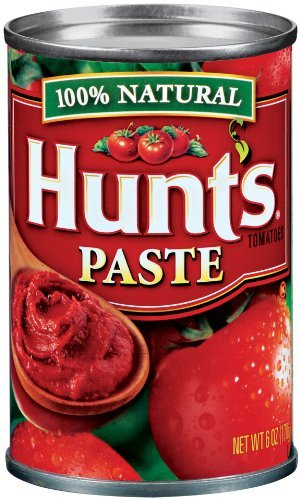Hunt's Tomato Paste 100% Natural 6 Ounce (Pack of 6)