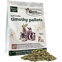 Timothy Pellets 4 lb - 100% All Natural, High Fiber, Sun Cured Timothy Hay Grass Food & Treat - Rabbits, Guinea Pigs, Chinchillas, Degus, Prairie Dogs, Tortoises, Hamsters, Gerbils, Rats & Small Pets