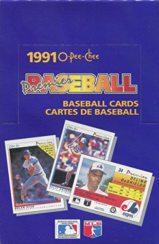 1991 O-Pee-Chee Premier Baseball Hobby Box - 36 Packs Per Box