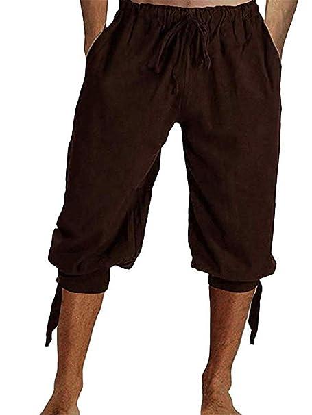 Amazon.com: Pantalones de pirata para hombre, pantalones ...