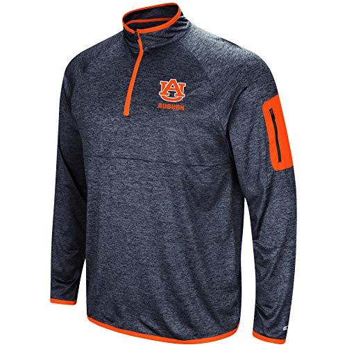 Colosseum NCAA Men's Scrimmage 1/4 Zip Windshirt Pullover-Auburn Tigers-Heathered Navy-Large ()