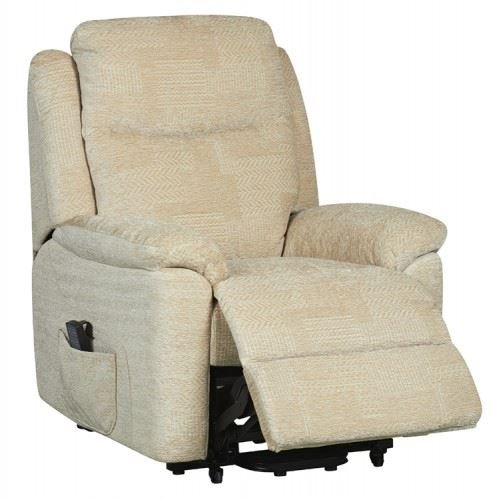 Evesham Fabric Electric Dual Motor Riser Recliner Chair Rise And Recline  Armchair   Cream: Amazon.co.uk: Health U0026 Personal Care