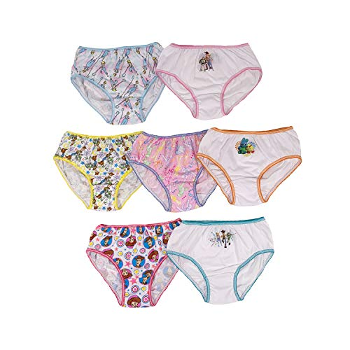 Disney Little Toy Story 4 Girls 7 Pack Panties, Girlstoystory, 4 (Jessie Toy Story Clothing)