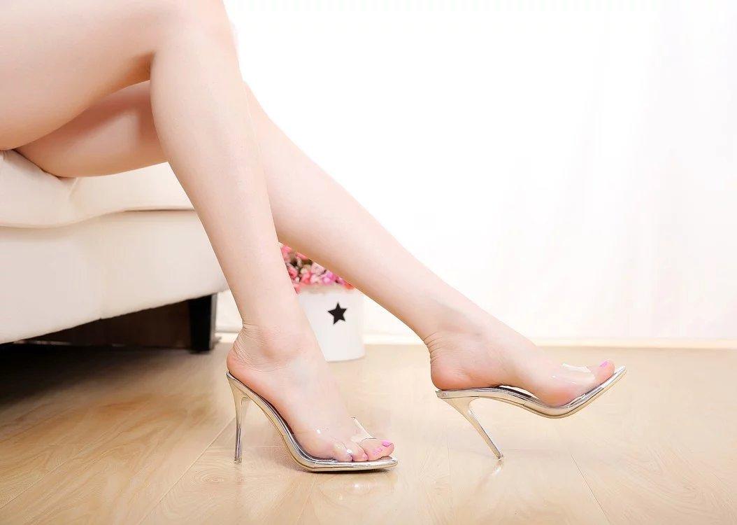 SCLOTHS Sommer Frauen Flip Flops Wasserdicht High heel Fein mit Wasserdicht Flops Transparente c392bd