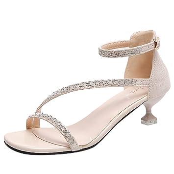 c7783d10983 Amazon.com | Women Wedge Sandals Summer, SIN+MON Women's Mid High ...