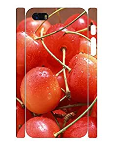 Fruits Theme Smart Phone Case With Fresh Cherry Print Anti Scratch Case Cover for Iphone 5c by lolosakes