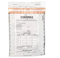 Medium Plastic Evidence Bag, 100pk