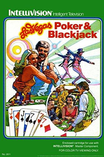 Las Vegas Poker and Blackjack Intellivision Box Art Video Ga