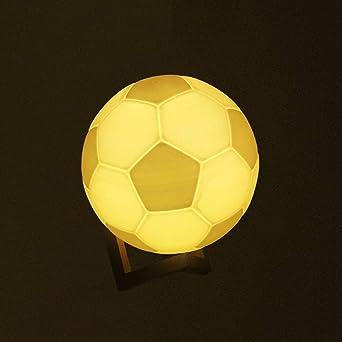 Ousenr Tischleuchte Wiederaufladbare 3d Magische Fussball