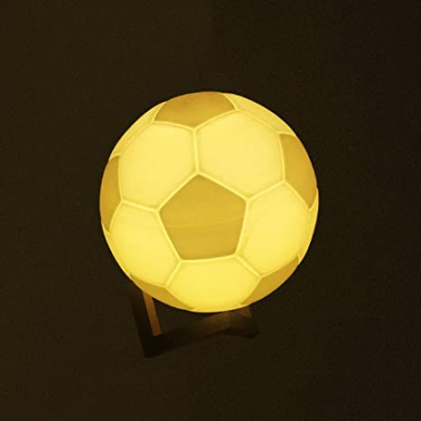 OUSENR Lámpara De Mesa 3D Recargable Lámpara Fútbol Mágico 7 ...