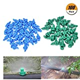 Eshylala 150 Pack Garden Atomizing Sprinkler Garden Watering Irrigation Atomizing Sprinkle 180 Degree Refraction Spray, (Blue or Green)