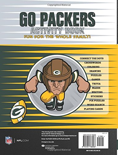 In The Sports Zone NFL Green Bay Packers Activity Book//Green//White//One Size