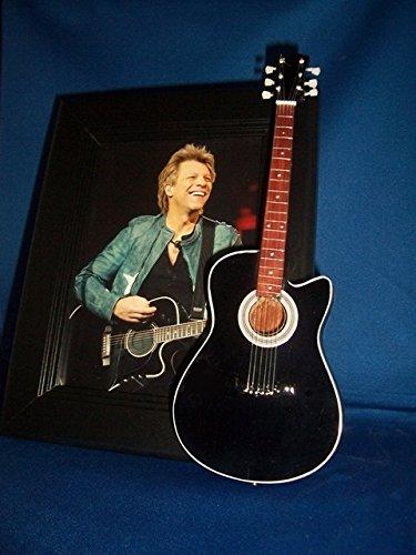 Little Guitar Shop JON BON JOVI Guitar Picture Frame BLACK ACOUSTIC -