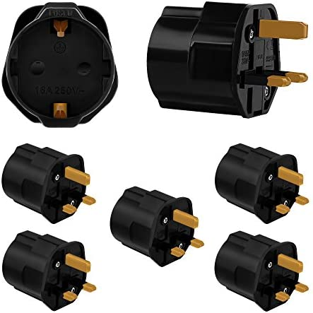 Incutex 5 X Travel Plug Uk Gb England Travel Adapter Eu Elektronik