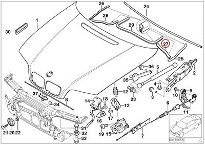 amazon.com: bmw genuine engine hood mounting parts engine compartment left  seal sealing 320i 323ci 323i 325ci 325i 325xi 328ci 328i 330ci 330i 330xi  m3: automotive  amazon.com