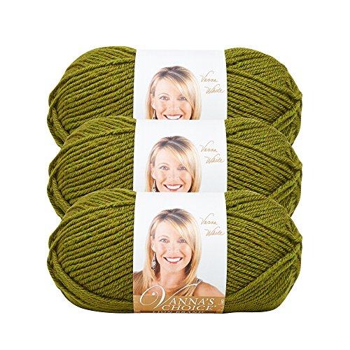 (3 Pack) Lion Brand Yarn 860-174C Vanna's Choice Yarn, Olive