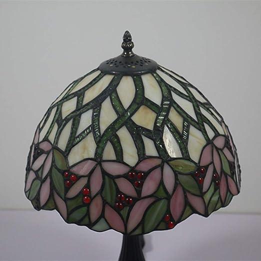 AZUAN Lámpara De Mesa De Diseño Rústico Estilo Tiffany, E27 ...
