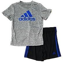 adidas Toddler Baby Boys 2pc Athletic Shirt and Shorts Set