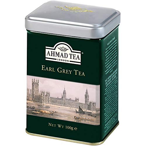 Ahmad Tea Caddy Gift Tin, English Scene, Earl Grey, 100 Gram