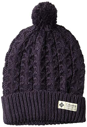 Columbia Wool Beanie - Columbia Women's Hideaway Haven Beanie, Dark Plum, O/S