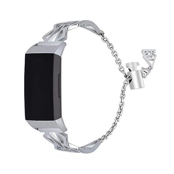 Amazon com: Compatible Fitbit Charge 3 Bands, Replacement Bracelet