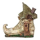 Cheap Miniature Fairy Garden Solar Old Lady Shoe House