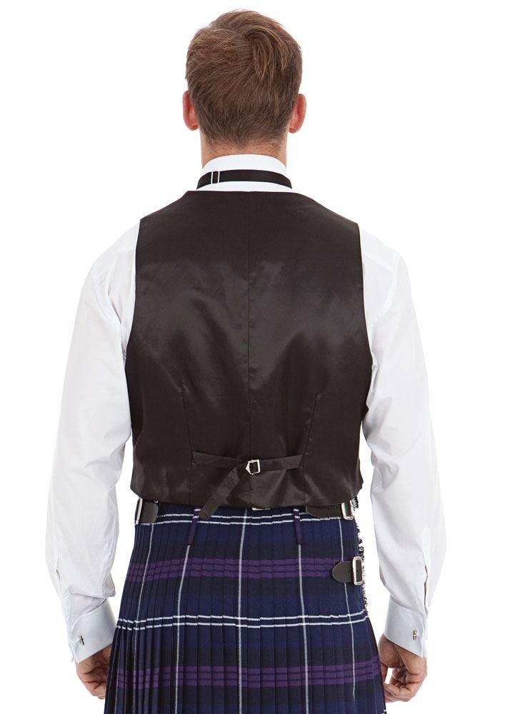 Kilt Society Mens Scottish Black Prince Charlie Kilt Jacket & Vest 52 Regular by Kilt Society (Image #2)