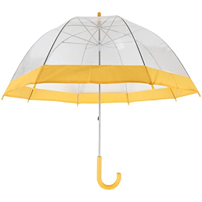 Home-X Clear Bubble Umbrella with Yellow Trim: Sports & Outdoors