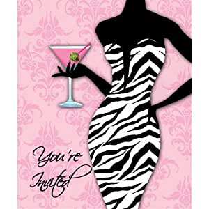 Sassy & Sweet Bachelorette Party Invitations Girls Night Out 8 Per Pack