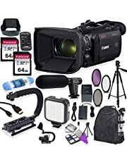 Canon Vixia HF G60 UHD 4K Camcorder with Premium Accessory Kit Including Padded Backpack, Microphone, Video Light & 128GB High Speed U3 Memory