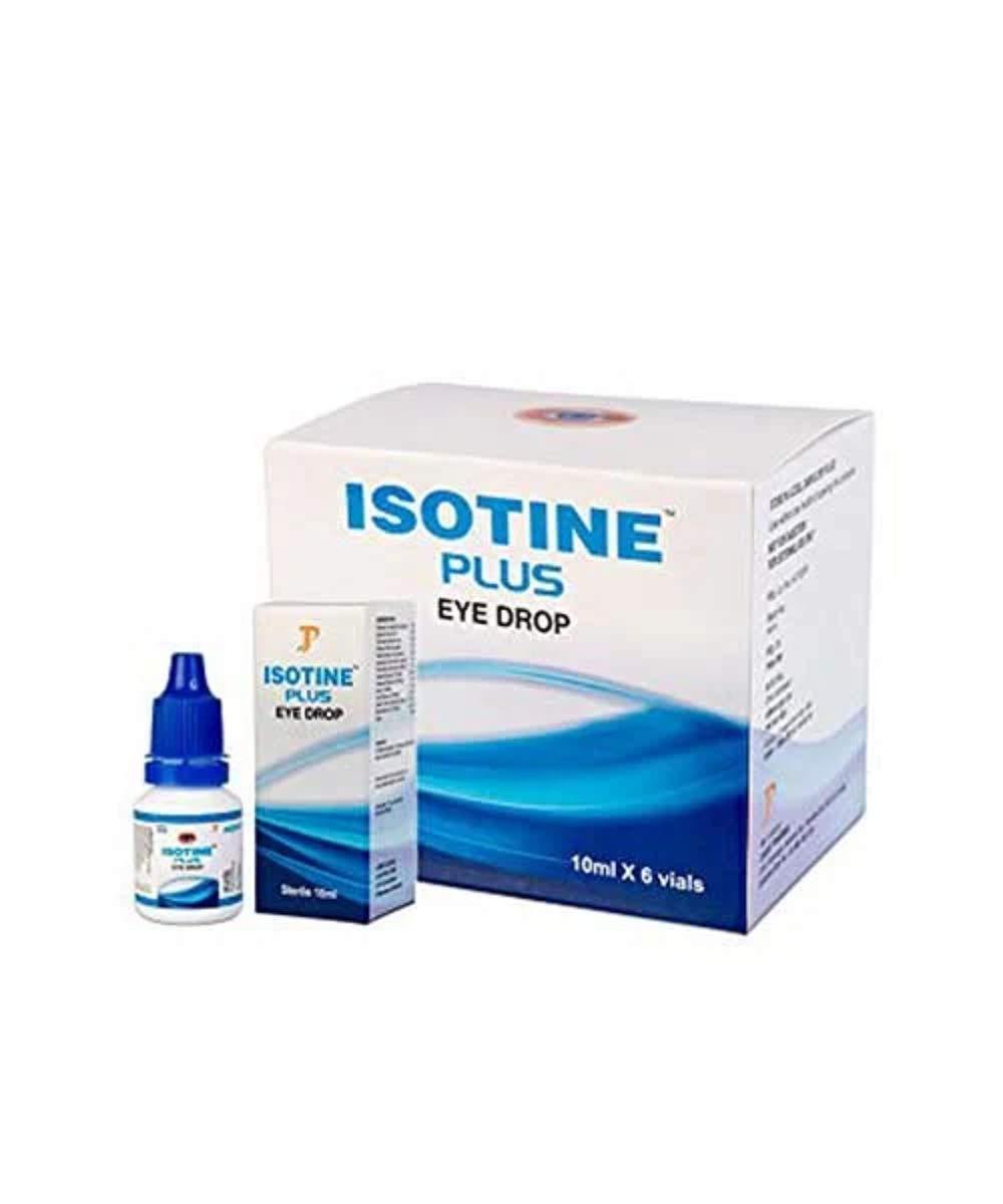 Dr Basu Advance Formula Isotine Plus Herbal Eye Drop 1 Box (10ml X 6 vials) - With Express Shipping