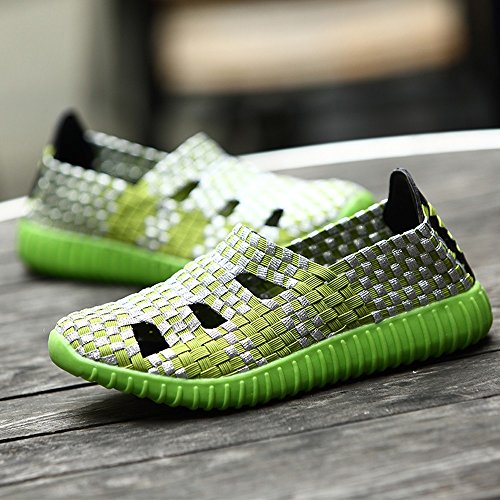 Clearance Sale Shoes For Women ,Farjing Fashion Women Flats Shoes Woven Shoes Casual Running Shoes Non Slip Shoes (US:6.5,Green) by Farjing (Image #3)