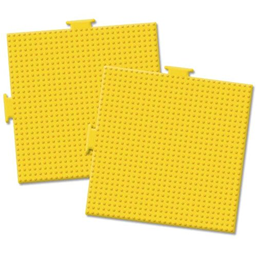 Perler Pegboards 2/Pkg-Large Square Yellow