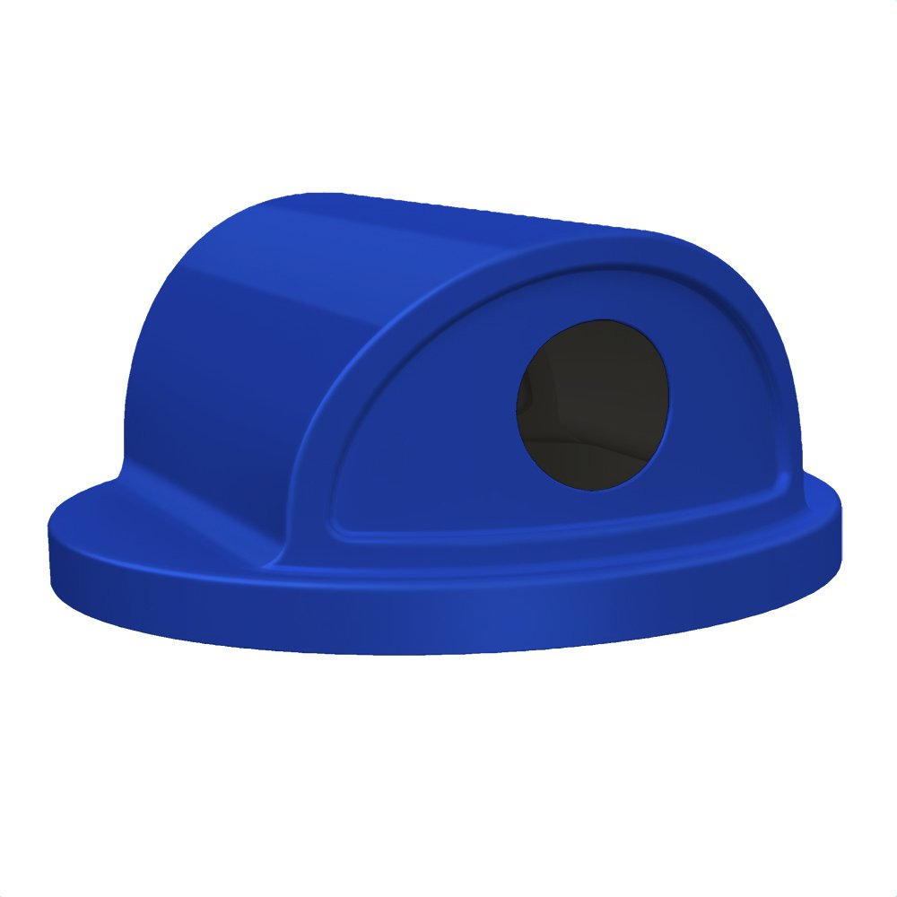 2 Way 6 inch Recycling Lid For 55 Gallon Drum | Blue