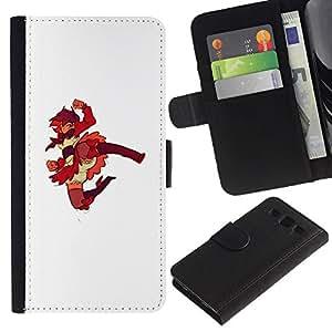 ZCell / Samsung Galaxy S3 III I9300 / Superhero Redhead Japanese Girl / Caso Shell Armor Funda Case Cover Wallet / Superhéroe Pelirrojo ja