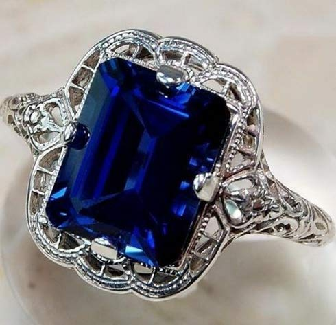 - Tomikko Huge Natural 3.5Ct Tanzanite 925 Silver Ring Women Wedding Engagement Size 6-10 | Model RNG - 12716 | 8